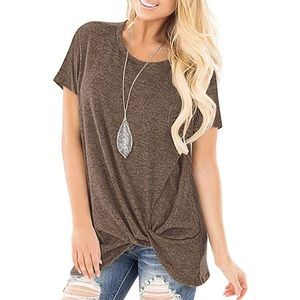 Tops - Casual Twist Knot loose-fitting Tunic. XL. NEW!